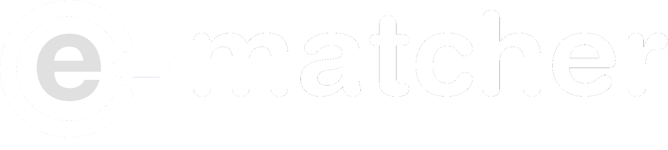 e-Matcher logo wit